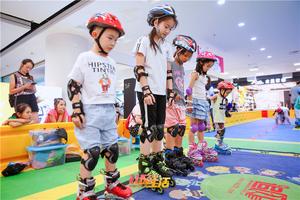 新华西路街道宁夏街社区教育工作站追风轮滑公益活动